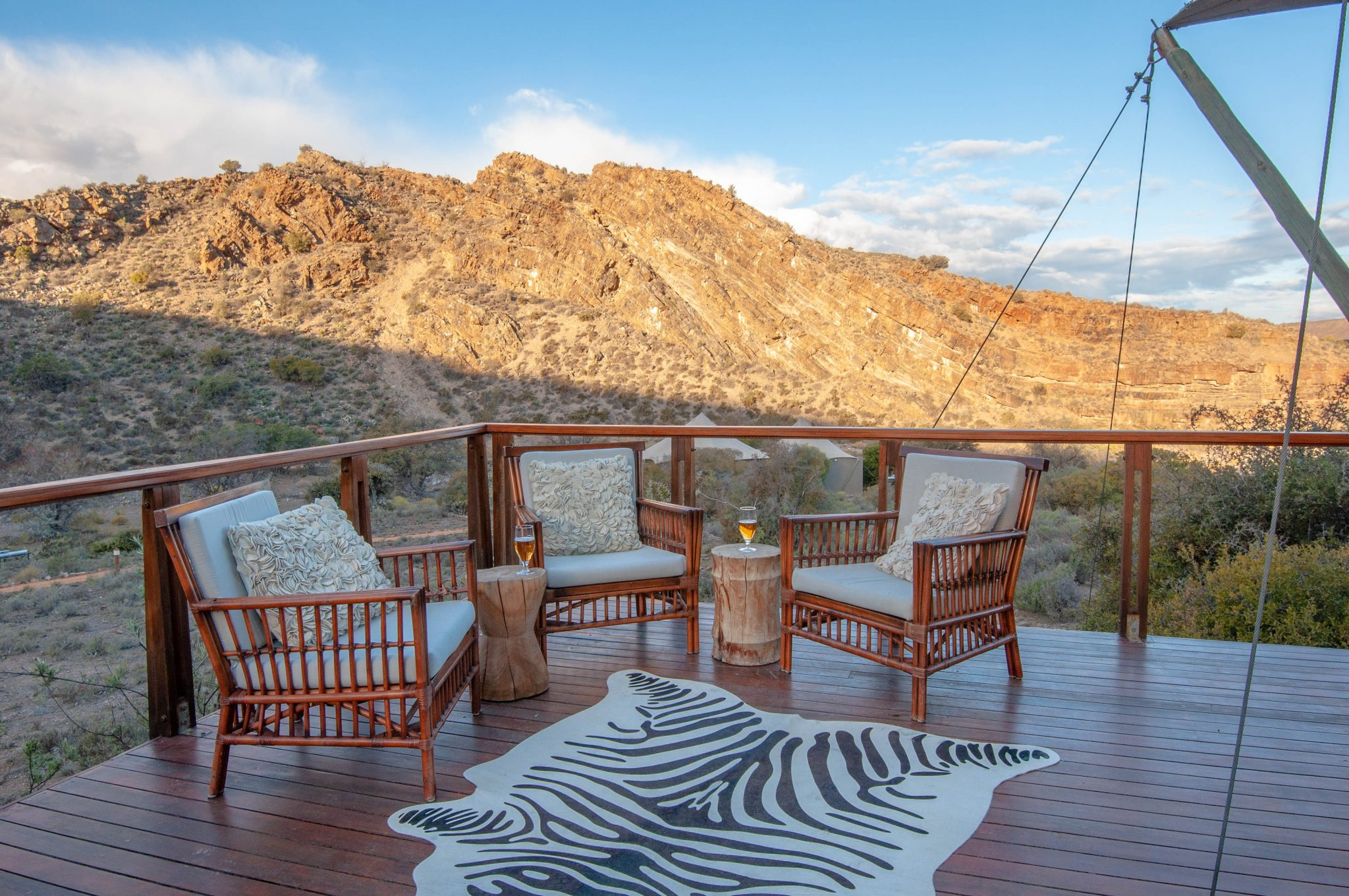 Enjoy the views from the deck at Dwyka Tented Camp