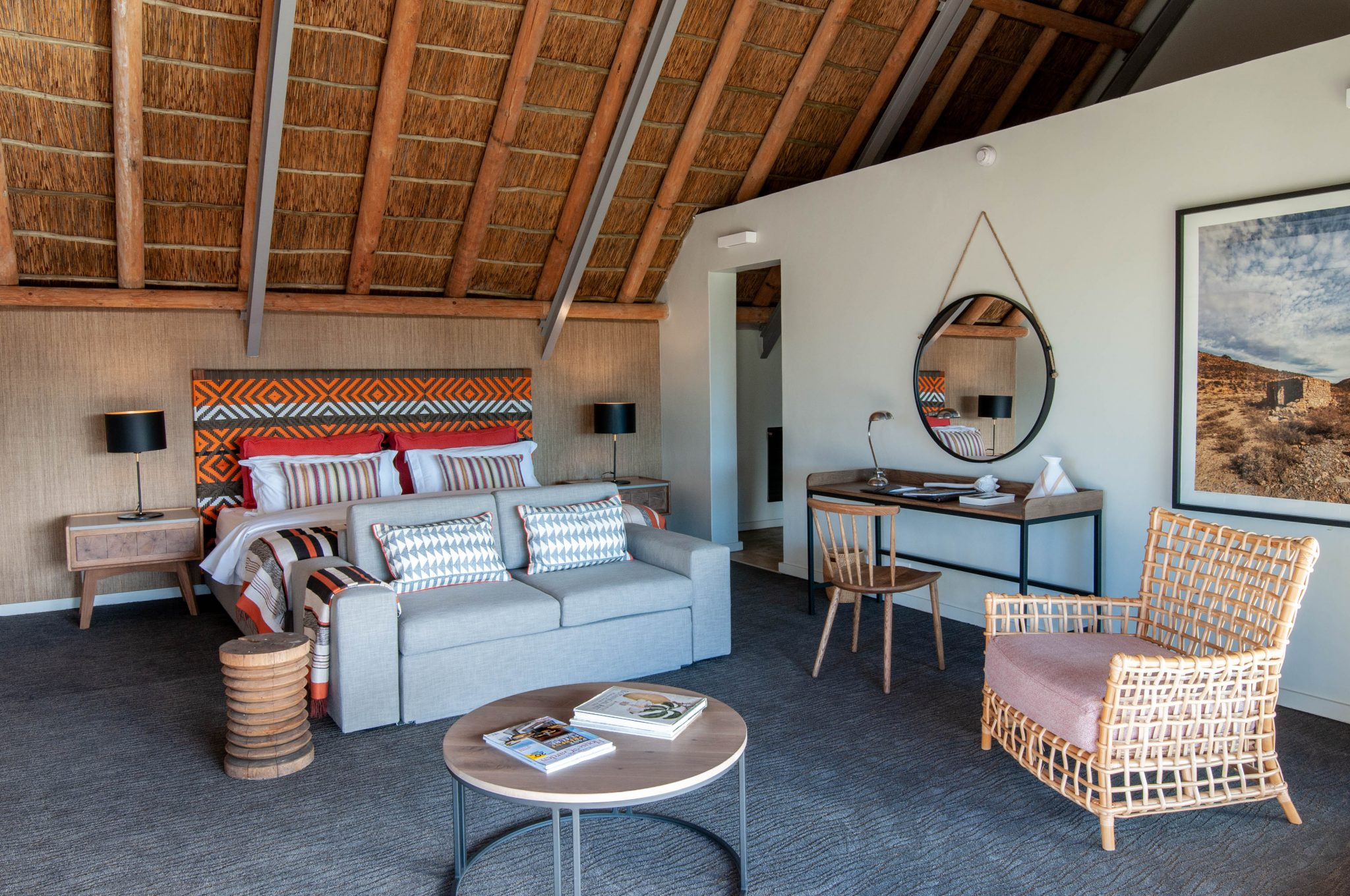 Interior View of Gondwana Family suite at Sanbona Private Reserve