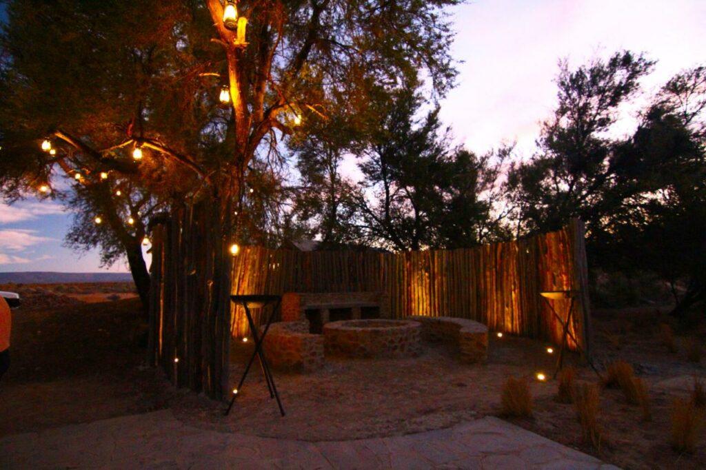 The braai (bbq) area at Kuganha Tented Camp in Inverdoorn Private Reserve