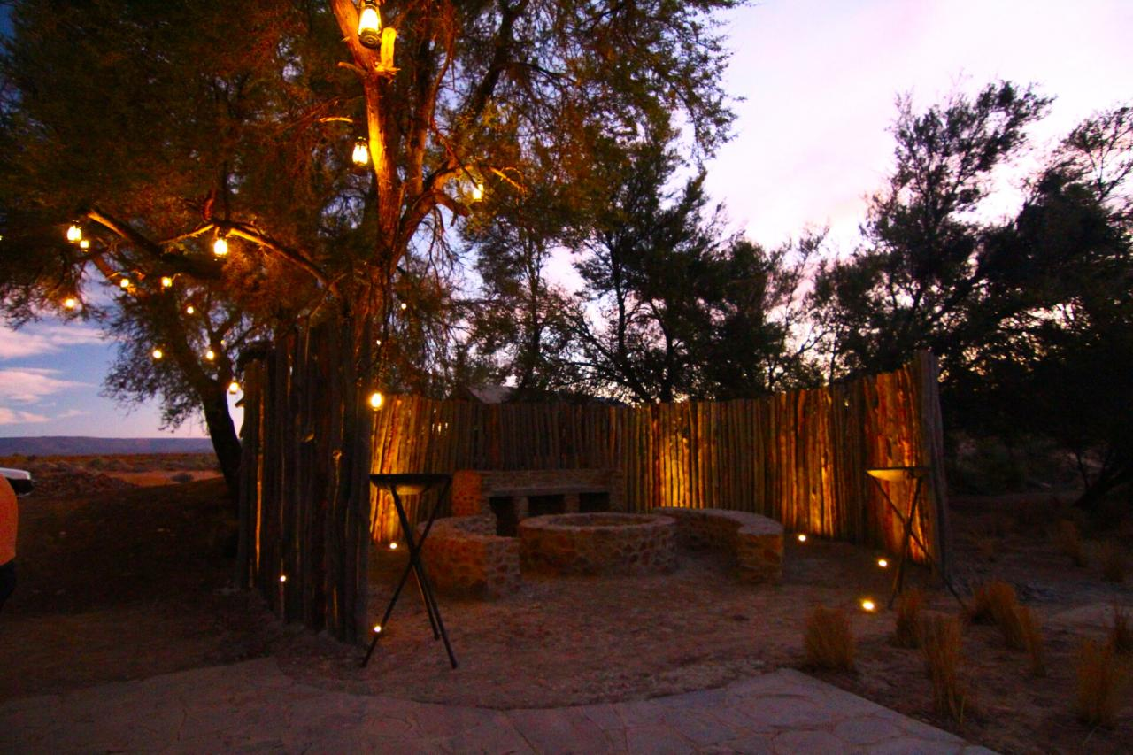 The braai (bbq) area at Kuganha Tented Camp in Inverdoorn Private Reserve