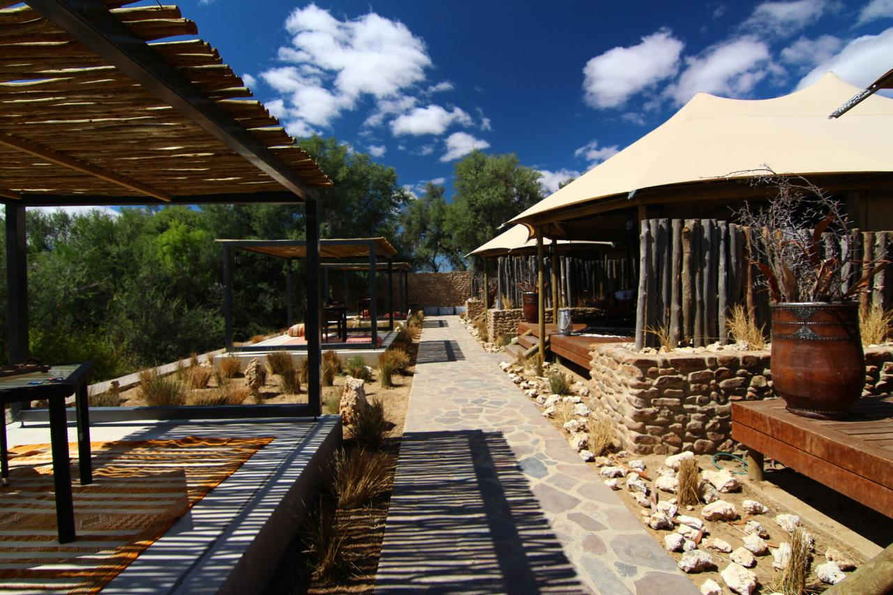 A view of Kuganha Tented Camp at Inverdoorn Private Reserve