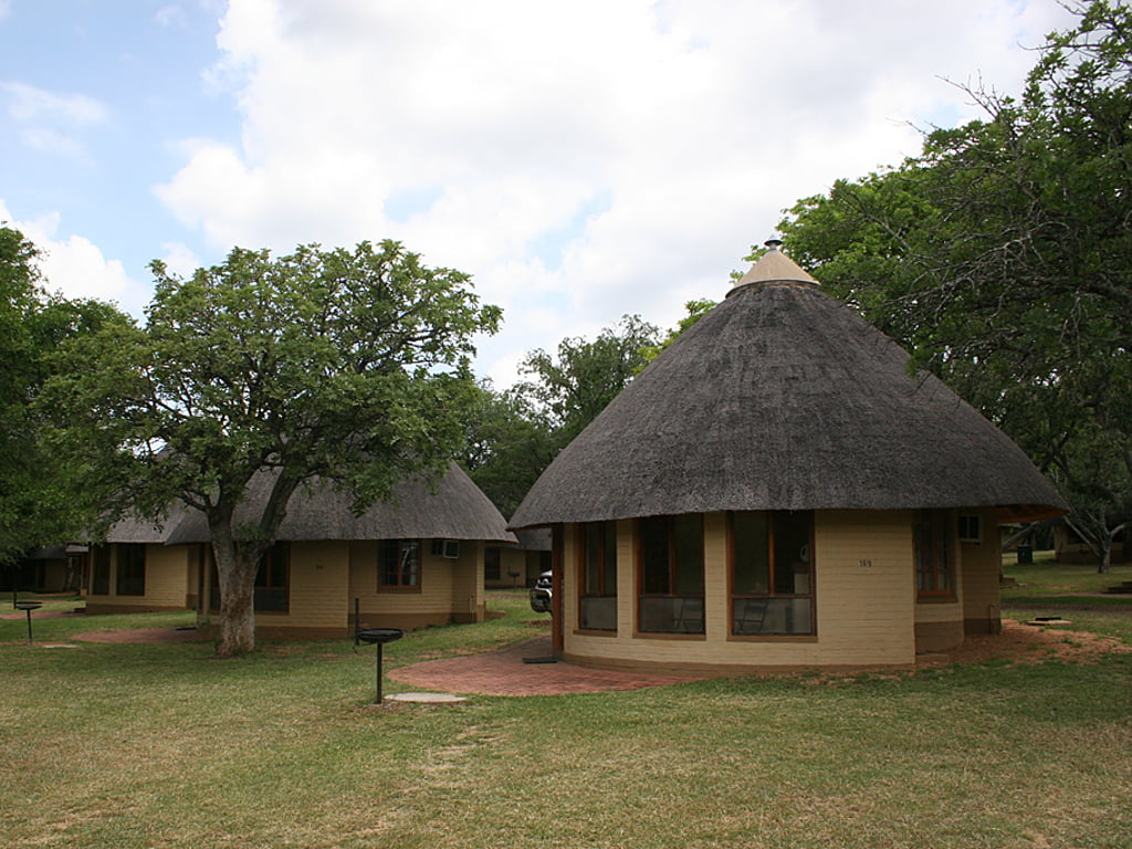 Exterior view of a chalet at the Kruger National Park