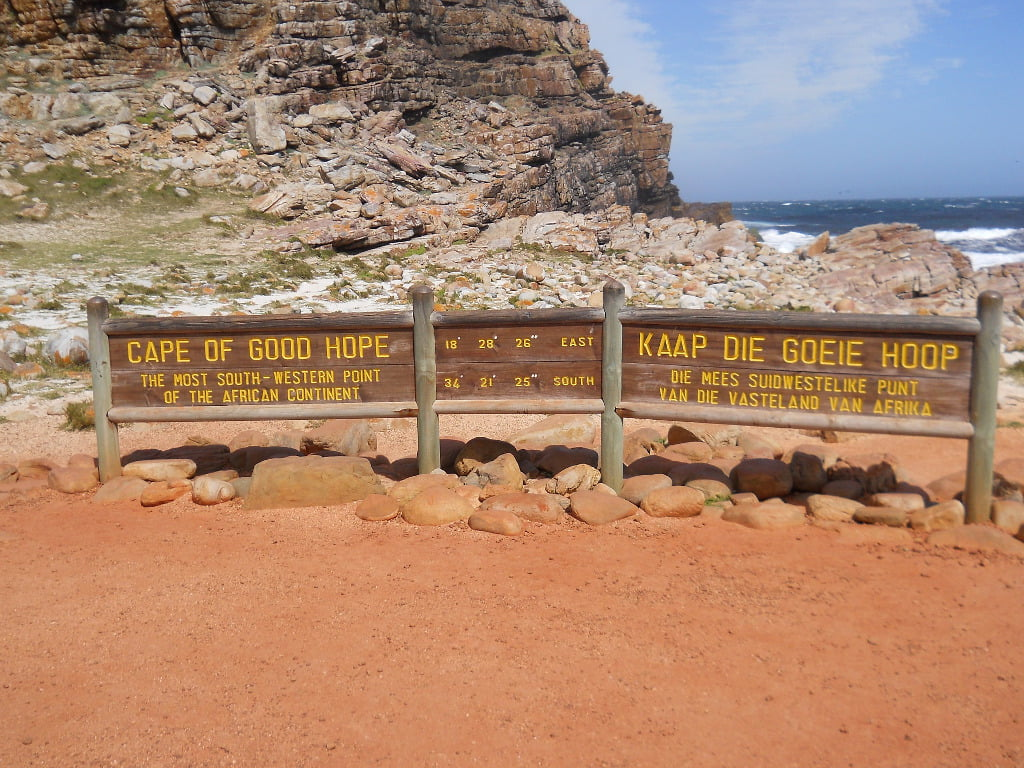 Cape of Good Hope sign board