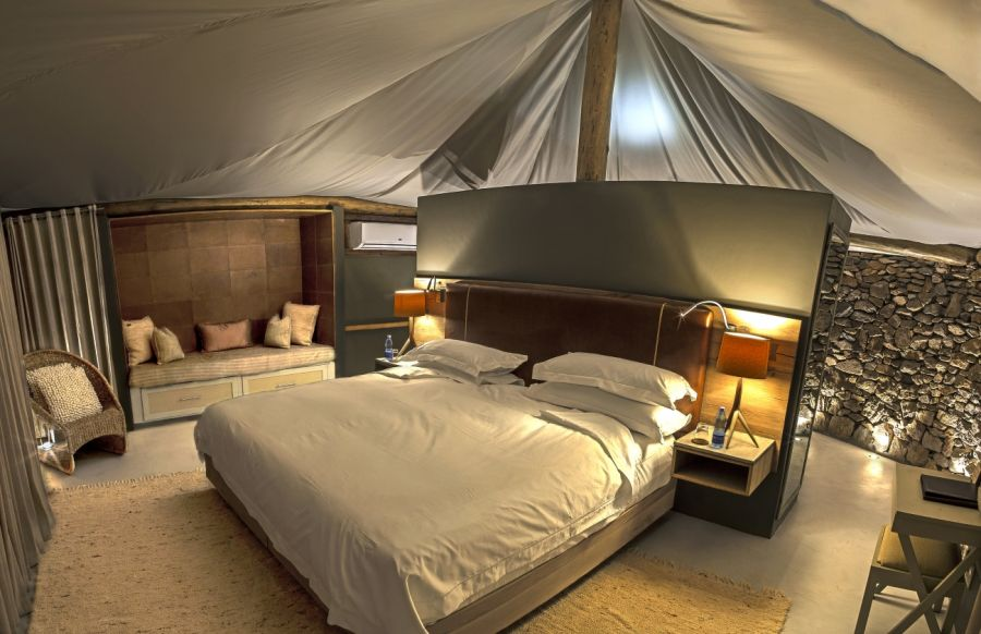 Interior view of Dwyka Tented Camp suite