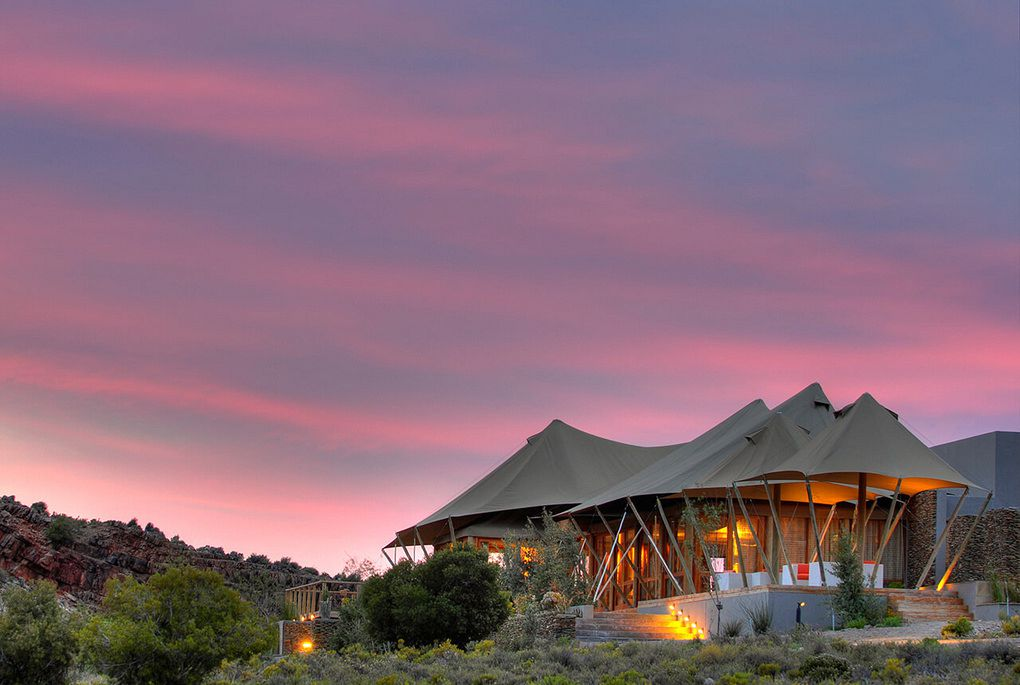 Exterior view of Dwyka Tented Camp at Sanbona
