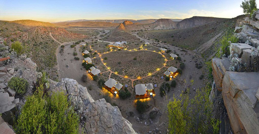 A view of Dwyka Tented Camp from above