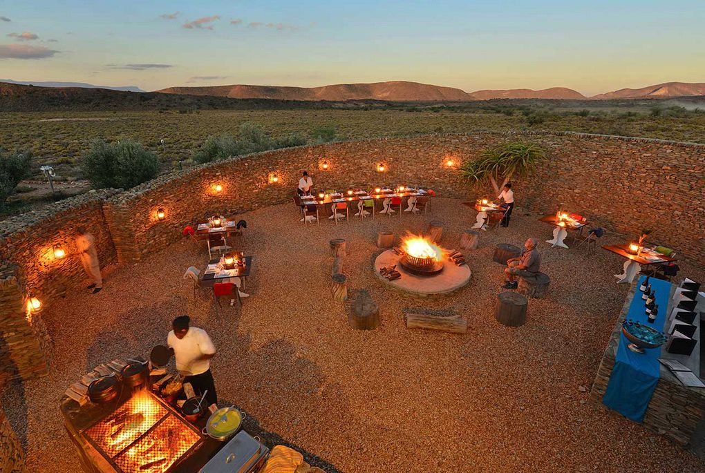 The kraal at Gondwana Lodge in Sanbona Private Reserve