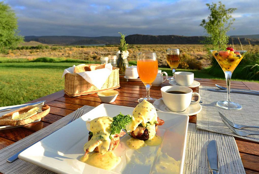 The view at breakfast at Gondwana Lodge in Sanbona Private Reserve
