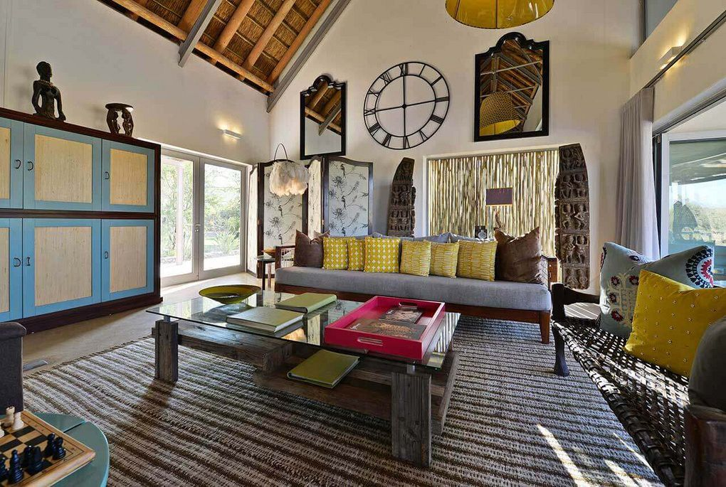 The lounge area at Gondwana Lodge in the Sanbona Private Reserve