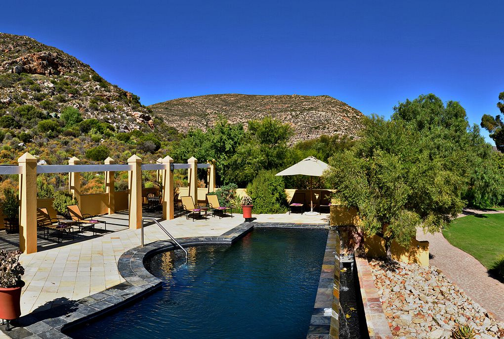 The swimming pool at Tilney Manor in Sanbona Private Reserve