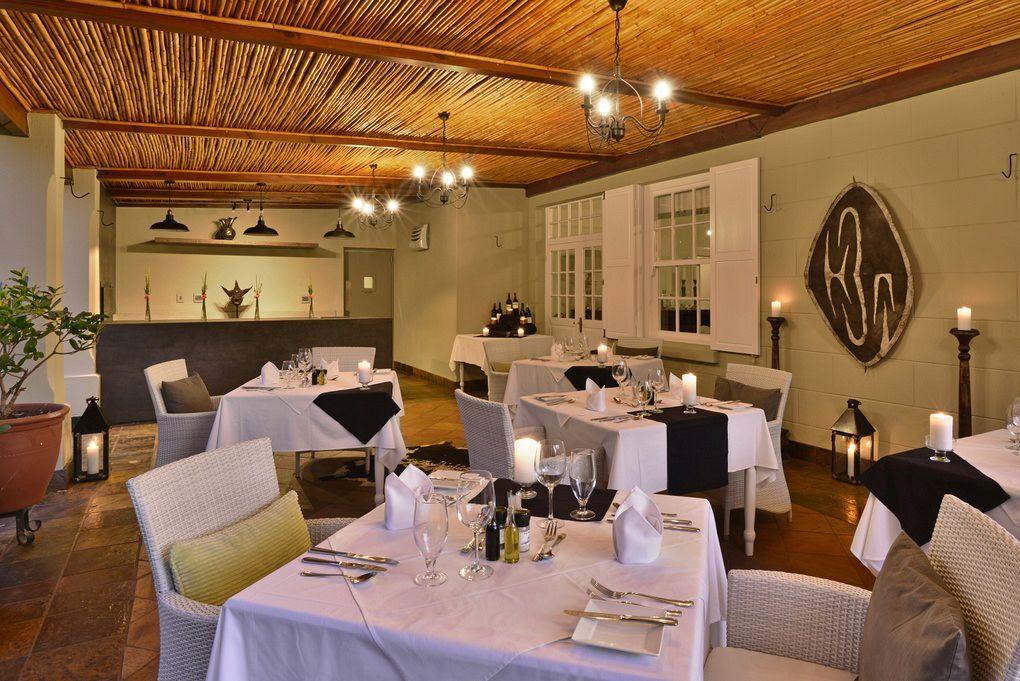 Fine dinning at Tilney Manor in the Sanbona Private Reserve