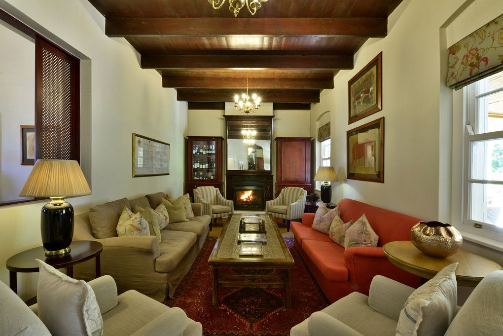 The lounge at Tilney Manor in the Sanbona Private Reserve