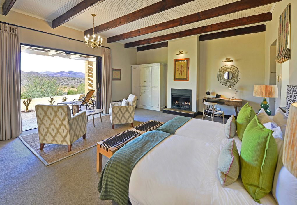 The interior of a guest room at Tilney Manor in Sanbona Private Reserve