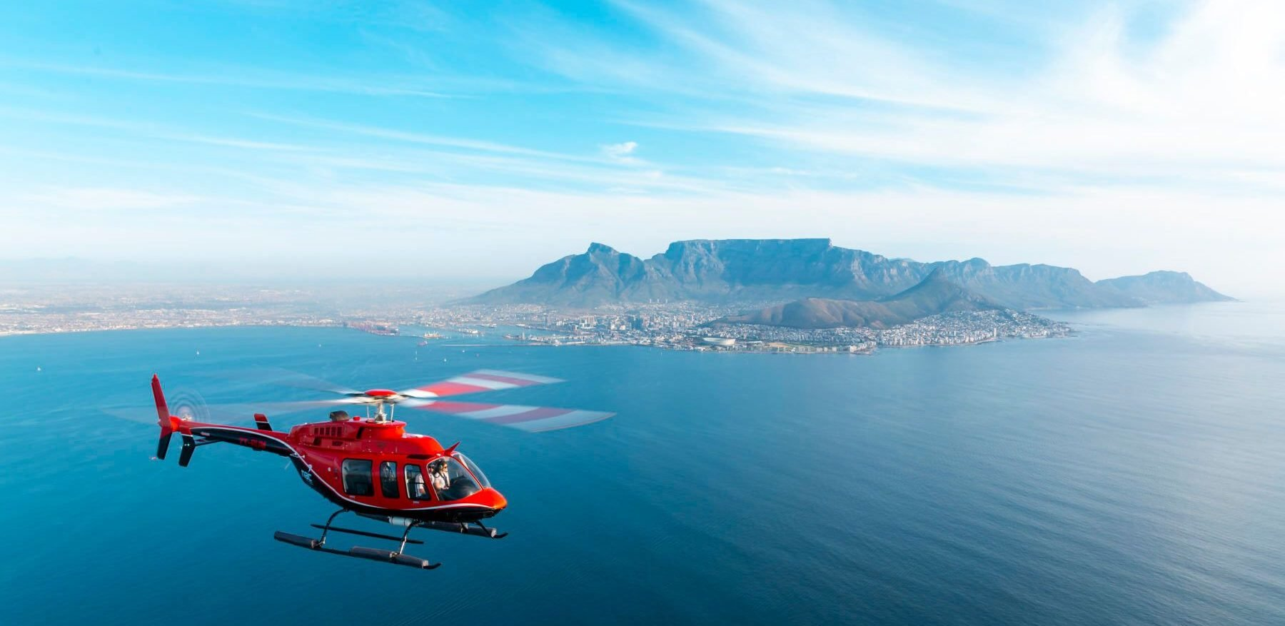 Flight over Table Bay with NAC helicopters