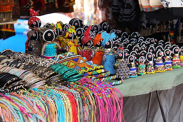 African Crafts at Green Market square. The perfect place to buy festive gifts