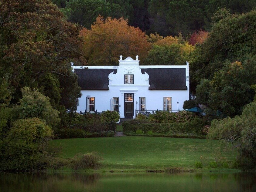 The zevenwcht Manor house at the first stop on the Stellenbosch wine tour
