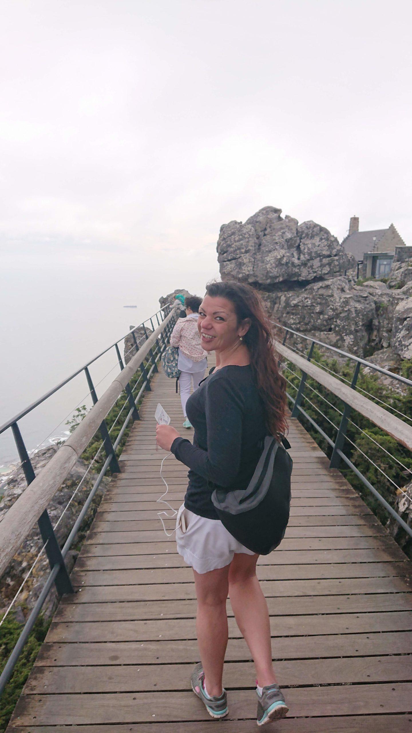 Smileing Woman on Table Mountain